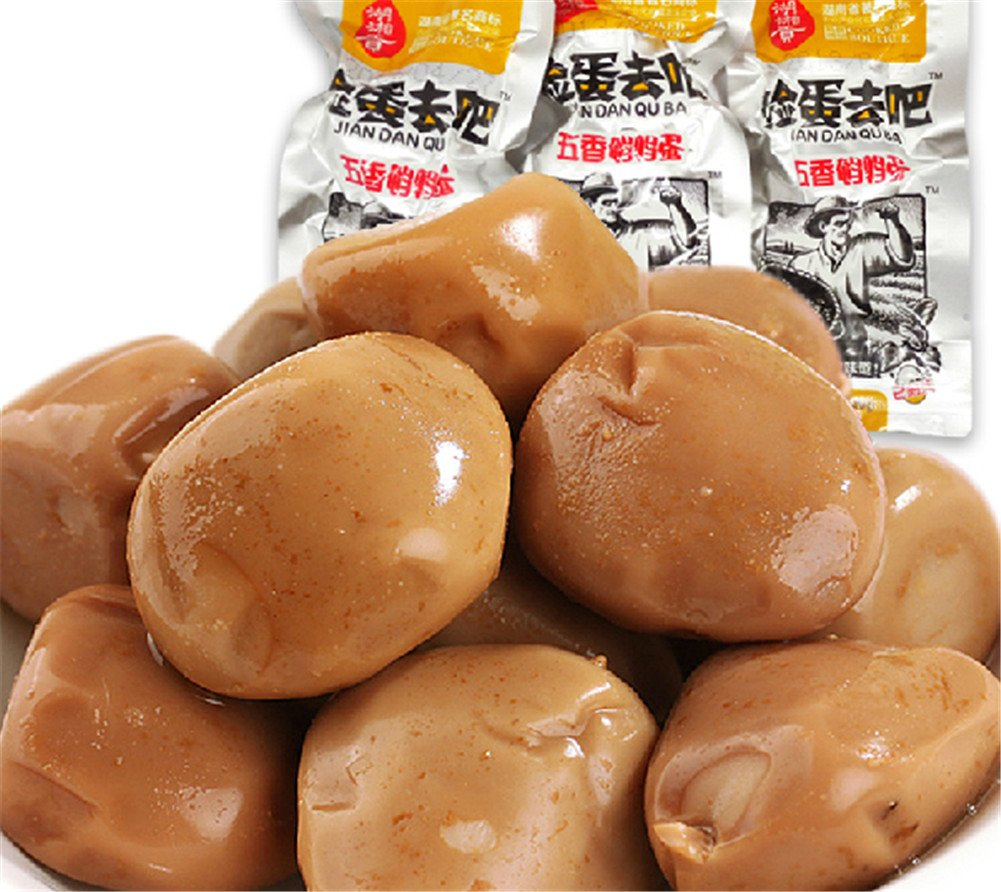 Qyz@ Chinese Characteristics Snacks Hunan Specialty Spiced Quail Marinated Egg(20g,30 Pack)