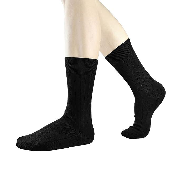 3socks Mars Negro 100 Algodón Egipcio Calcetines de Negocios Para Hombre-3 pares/38-43: Amazon.es: Ropa y accesorios