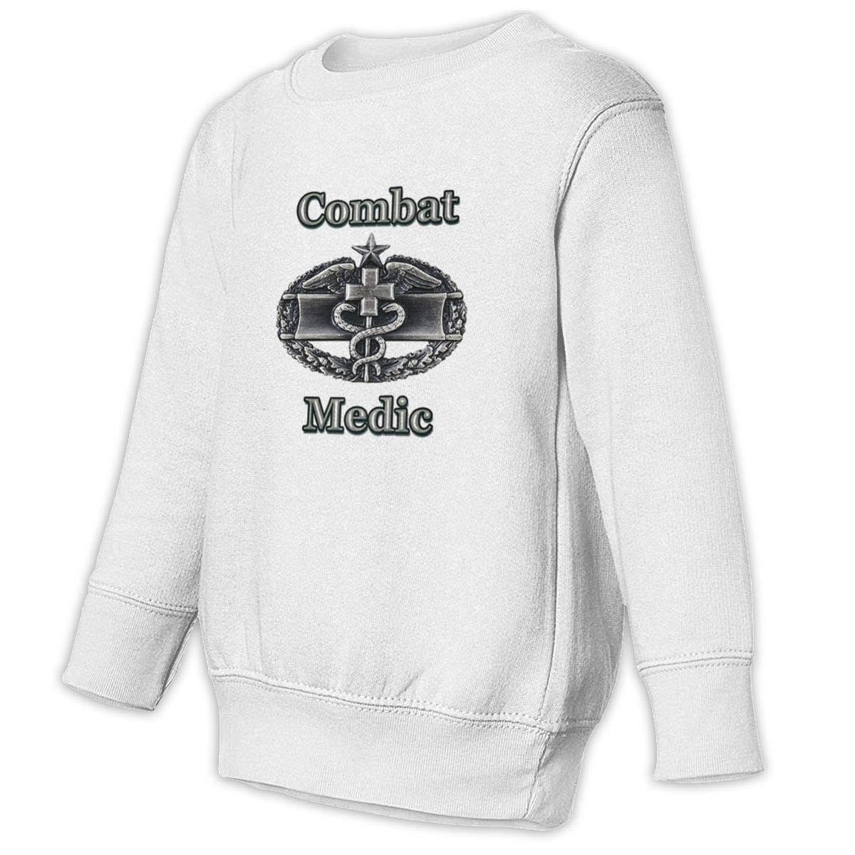 GHYNJUM Combat Medic Vietnam Kids Unisex Cotton Long Sleeve Round Neck Pullover