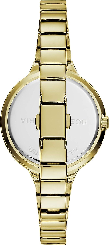 BCBGMAXAZRIA Women's Japanese-Quartz Stainless Steel Case Stainless-Steel Strap Casual Watch (Model: BG50675001-03 Gold