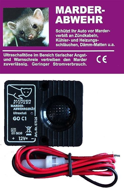 Loadchamp Marderschutz Marderabwehr Ultraschall Ger/ät Marderschreck KFZ Auto 12V