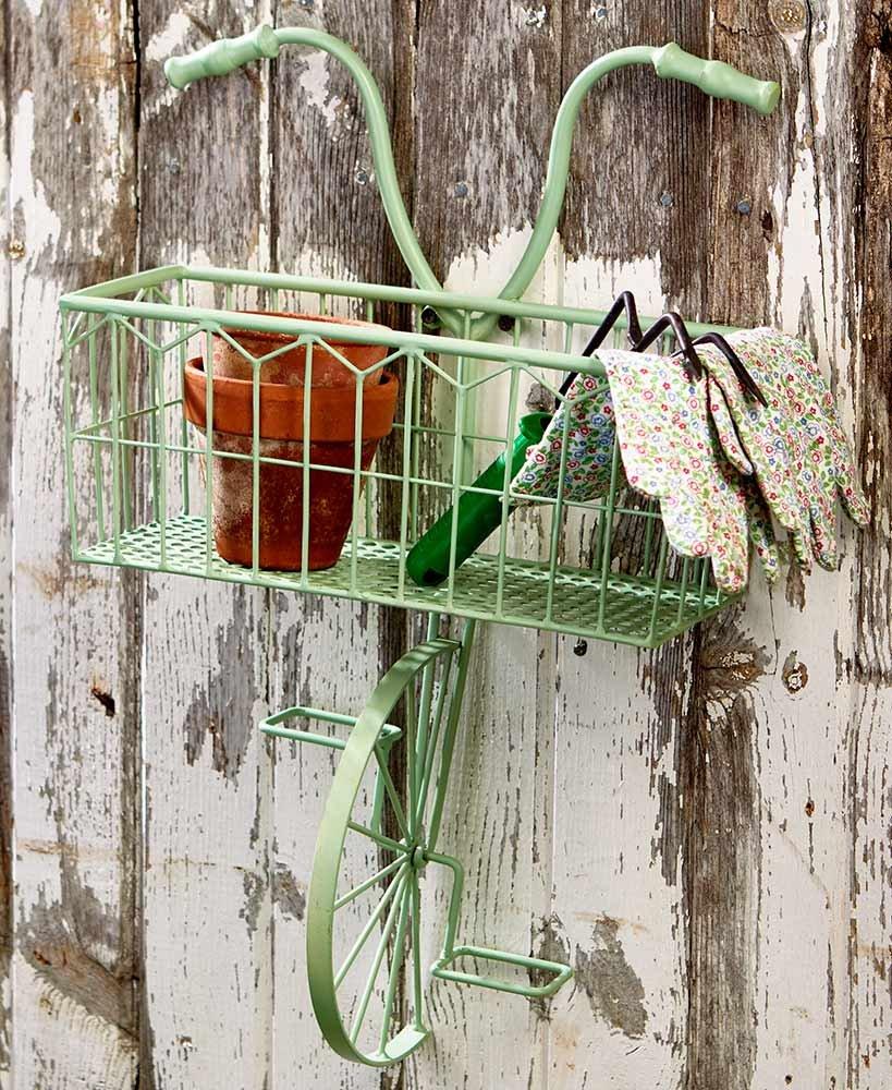 The Lakeside Collection Vintage Bike Wall Planter