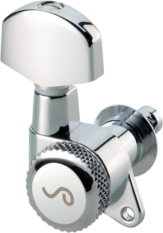 Schaller Electric Guitar Machine Heads - 3 per side - Locking Tuners - Chrome