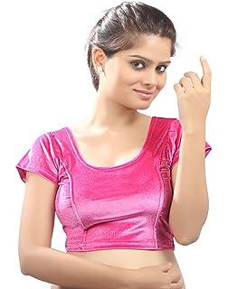 f9999fb2005ef6 Amazon.com: Magenta Velvet Chic Ready-made Saree Blouse Sari Choli ...