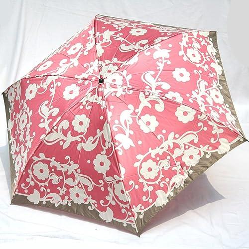 ブランド傘 ハナエ モリ HANAE MORI(折りたたみ)ピンク(アラベスク)
