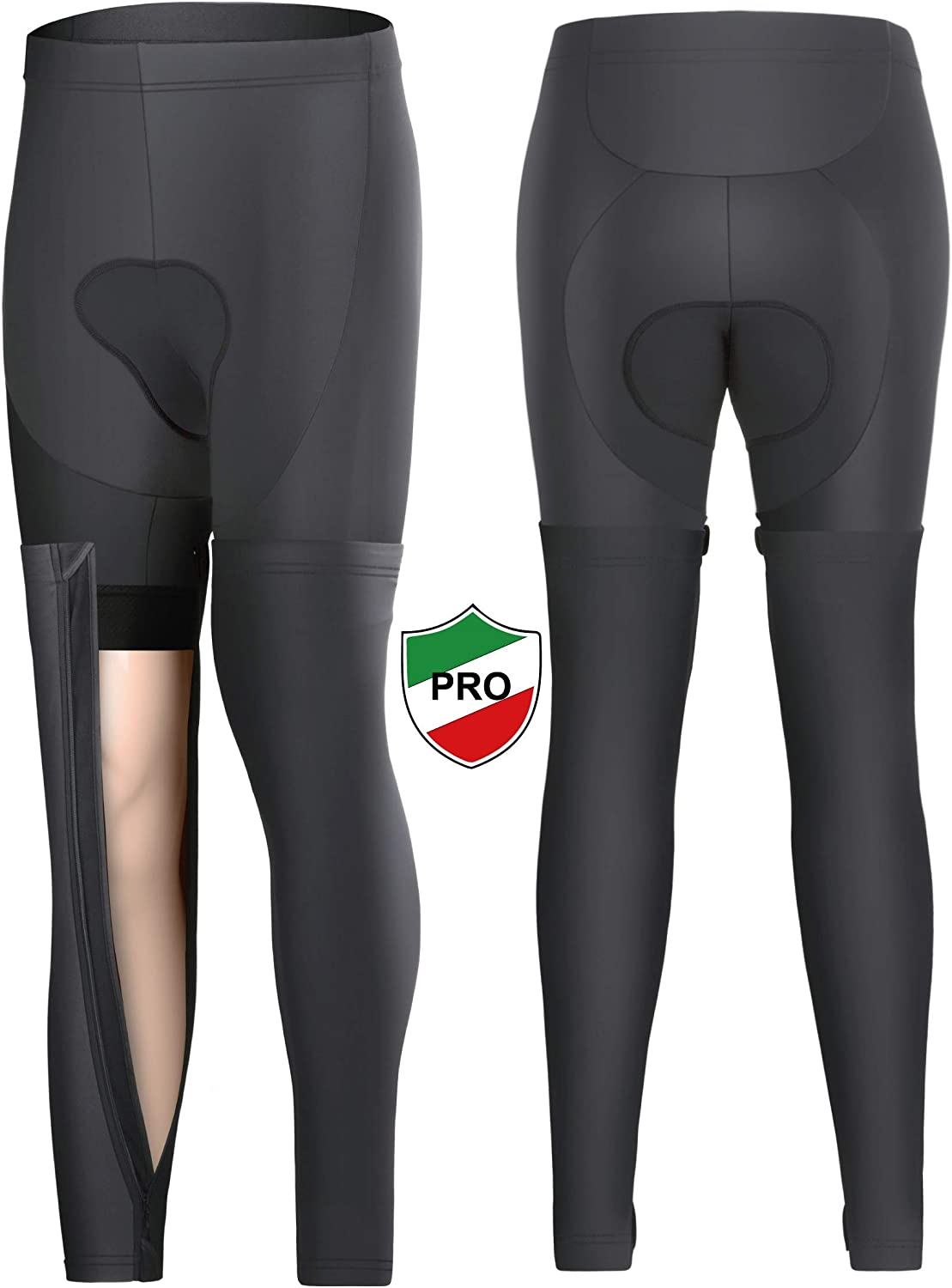 Ceroti Thermal Fleece Cycling Tights Bike Pants with Removable Leggings When Over Hot
