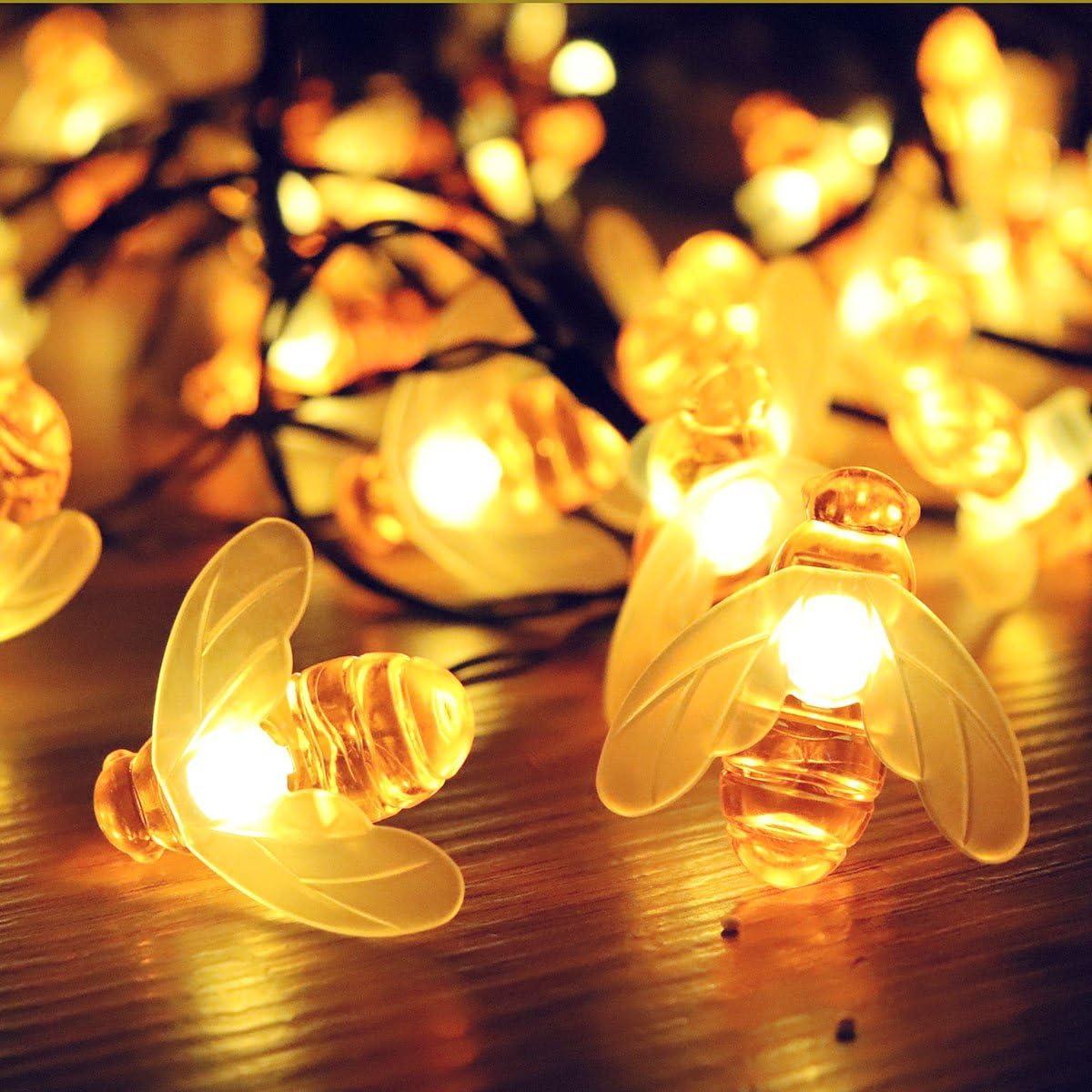 Berocia guirnalda luces exterior solar led luces led solares para exteriores jardin Luces Decorativas Guirnaldas Decoracion Cadena Luces luci natalizie esterno 6.5m 30 LED 8 Modalit/à ip65 Impermeabile