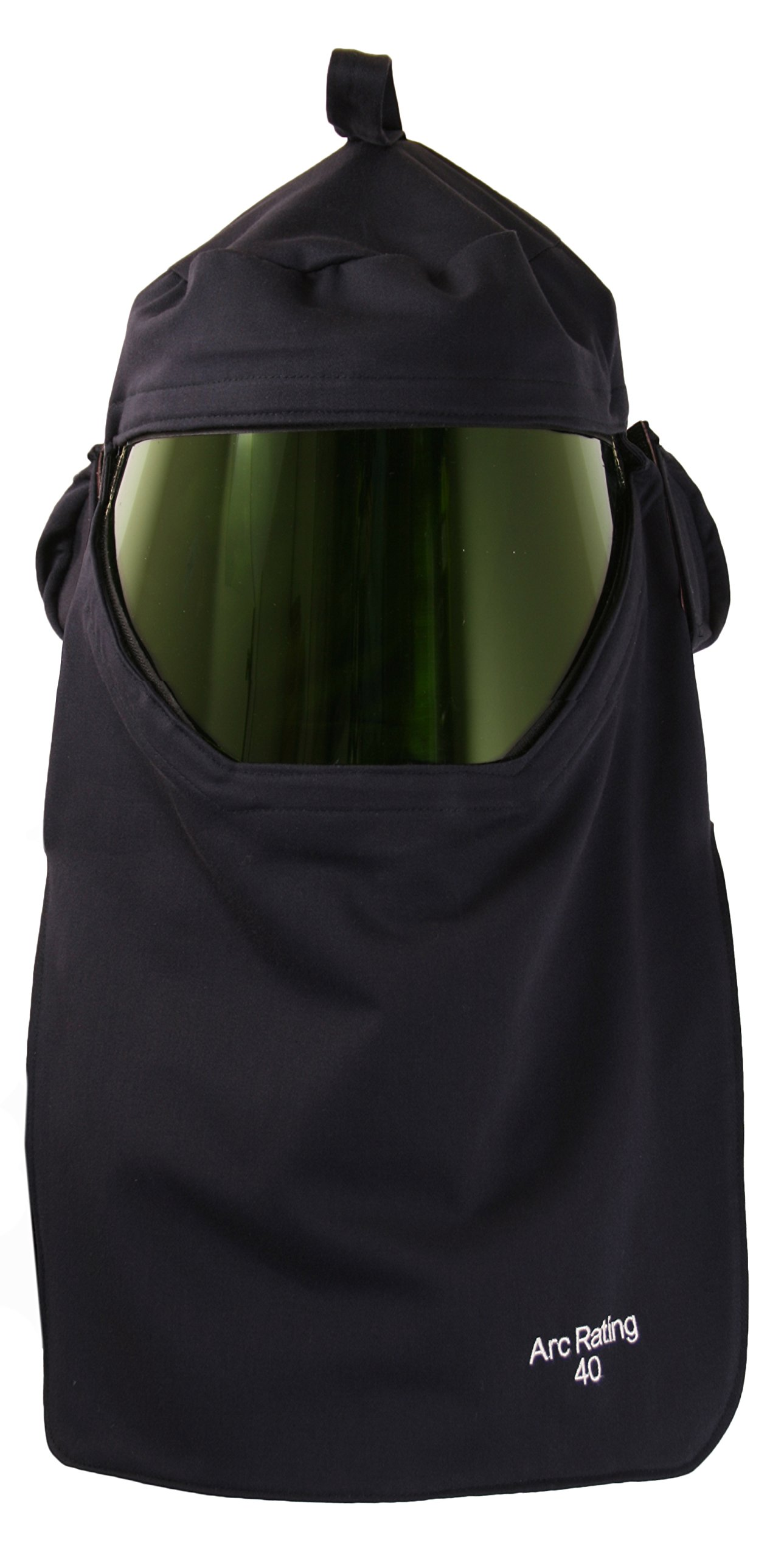 National Safety Apparel H65UQUQFAN40 ArcGuard Arc Flash CrossVent Hood with Hard Hat and Internal Fans, 40 Calorie, One Size, Navy