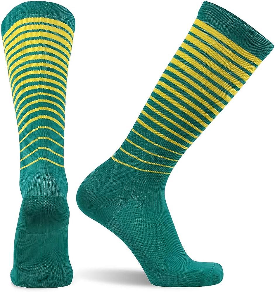 SuMade Athletic Compression Socks, Womens Mens Graduated 20-30mmHg Nursing Running Cycling Recovery Socks 1 Pair