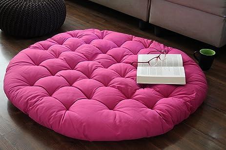 Store Indya Papasan Round Lounge Chair Cushion Pillow, 36 Inch Diameter    Pink
