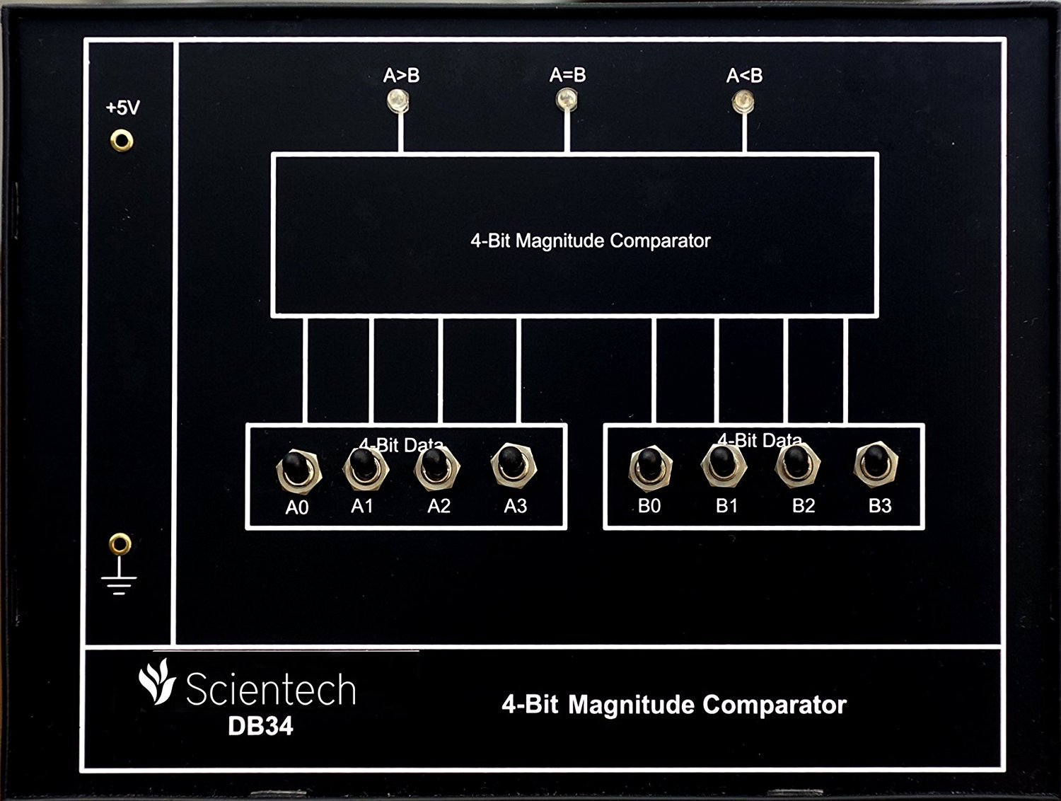 Db34 4 Bit Magnitude Comparator Experiment Board And Trainer Kit Circuit Diagram Of With 1 Year Warranty