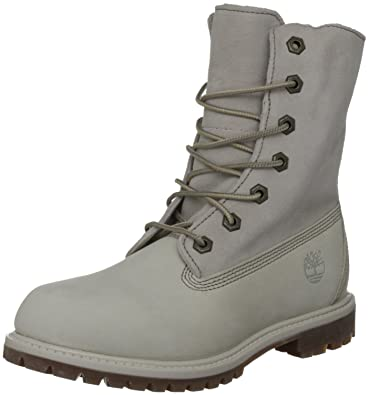 Timberland Authentics Teddy Fleece Fold Down, Boots femme Blanc (Off White),