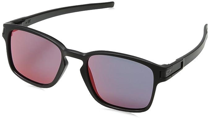 9aeb27d4c1 Oakley Men s Latch Squared Non-Polarized Rectangular Sunglasses Matte Black  w Torch Iridium 52