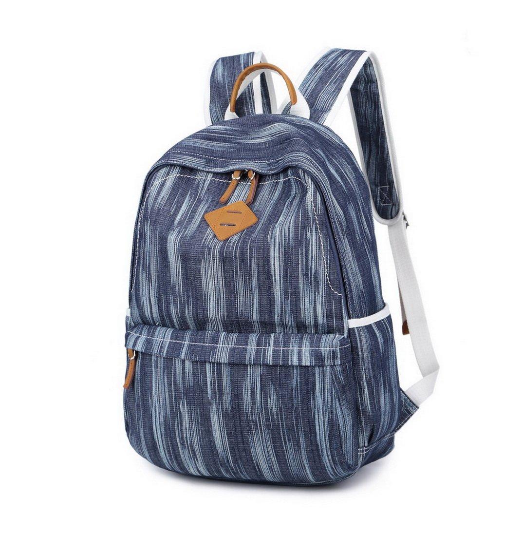 """Amazon.com: Acmebon Unisex Vintage Canvas Backpack with USB Charge Port Fashion 15.6"""" Laptop Rucksack Retro Dark Blue: AcmebonDirect"""