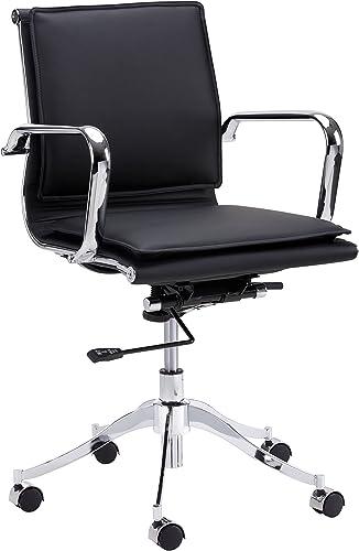Sunpan Modern Sunpan Morgan Full Back Office Onyx Chair