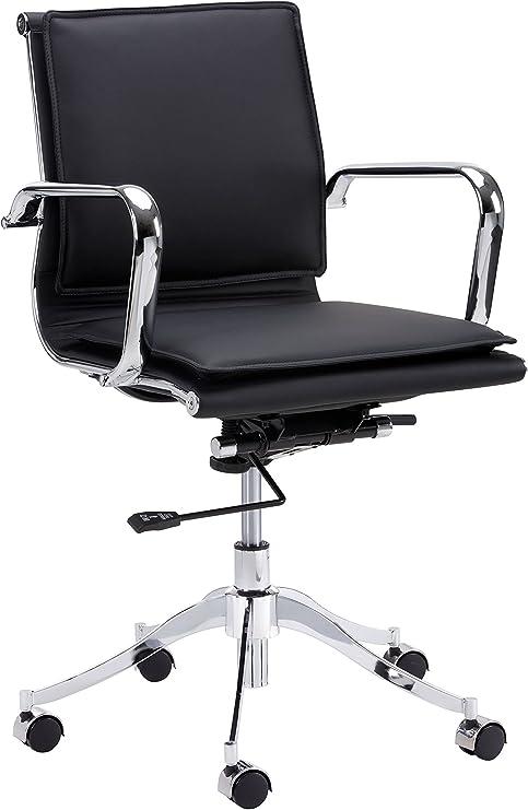 Amazon Com Sunpan Modern Sunpan Morgan Full Back Office Onyx Chair Onyx Onyx Furniture Decor