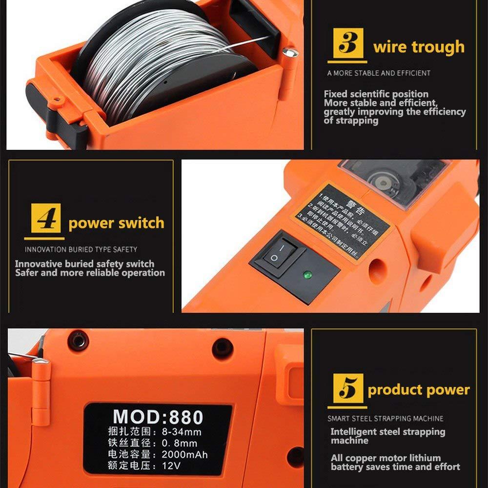 Rebar Wire Twister con mango de pl/ástico suave y gancho fexible para atar el cable f/ácilmente y unir firmemente las barras de refuerzo