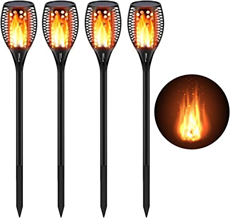Outdoor Solar Light LED Dancing Flame Flickering Lamp Waterproof Garden Decor