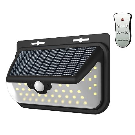 Solar Iluminación Leuchten exterior con detector de movimiento Navidad 48 LED IP65 impermeable gran angular de