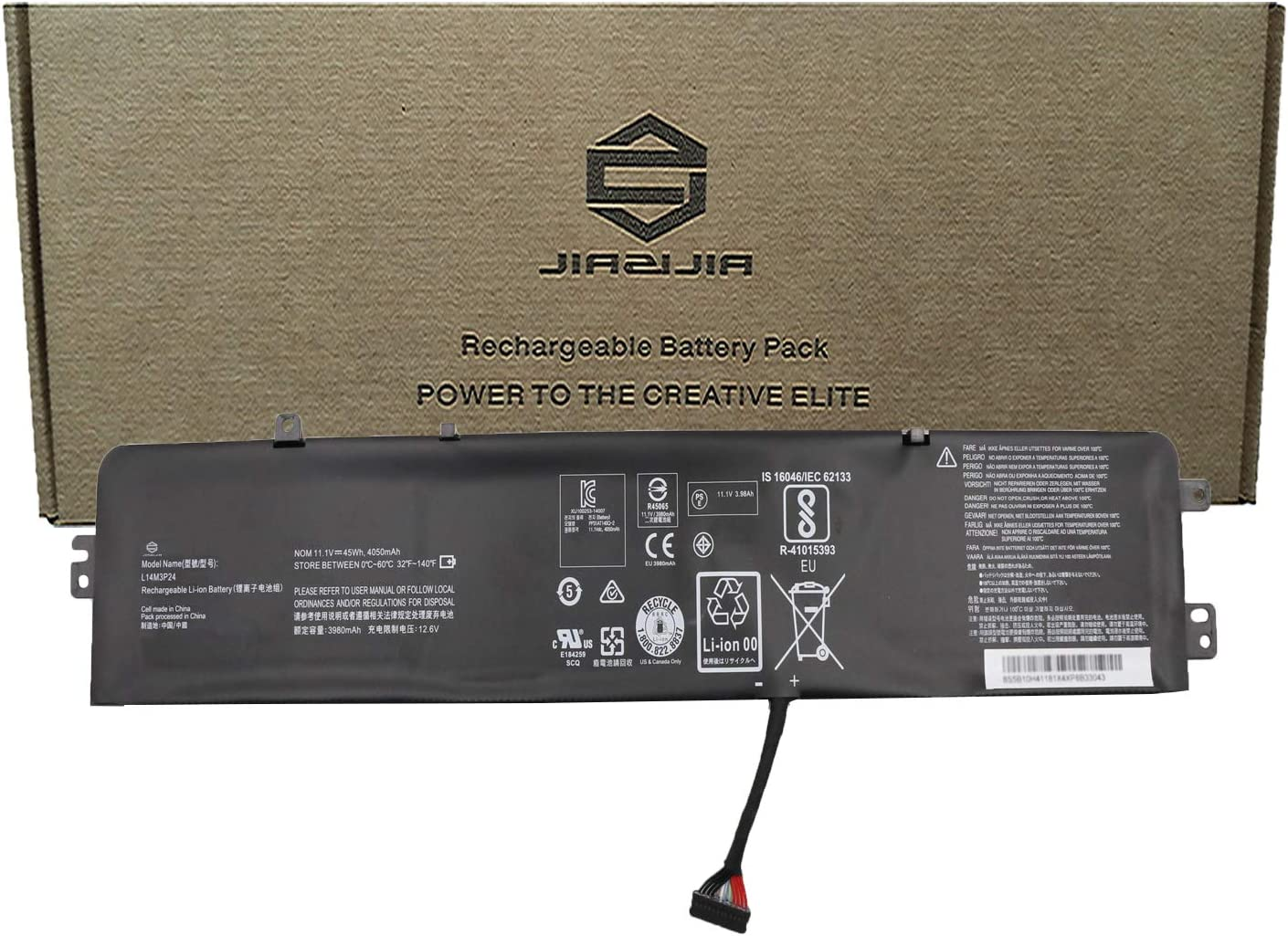 JIAZIJIA L14M3P24 Laptop Battery Replacement for Lenovo IdeaPad Y700-14ISK 700-15ISK 700-17ISK Legion Y520-15IKBA Y520-15IKBM Y520-15IKBN Series L14S3P24 L16S3P24 L16M3P24 11.1V 45Wh 4050mAh 3-Cell