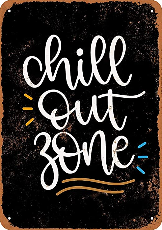 HiSign Chill out Zone Retro Cartel de Chapa Coffee Póster ...