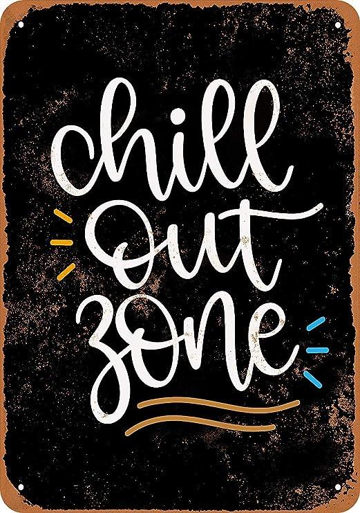 HiSign Chill out Zone Retro Cartel de Chapa Coffee Póster ...