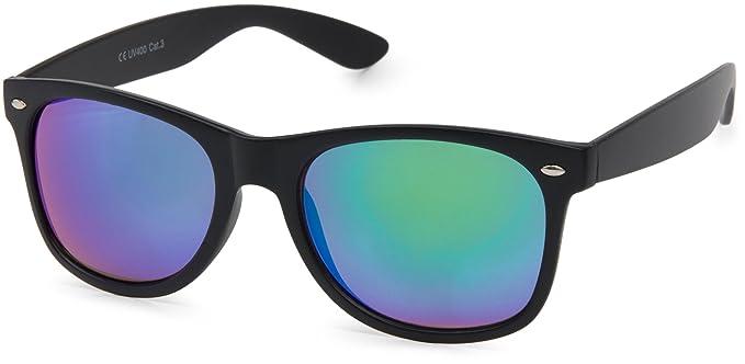 styleBREAKER gafas de sol de espejo de nerd, diseño retro ...
