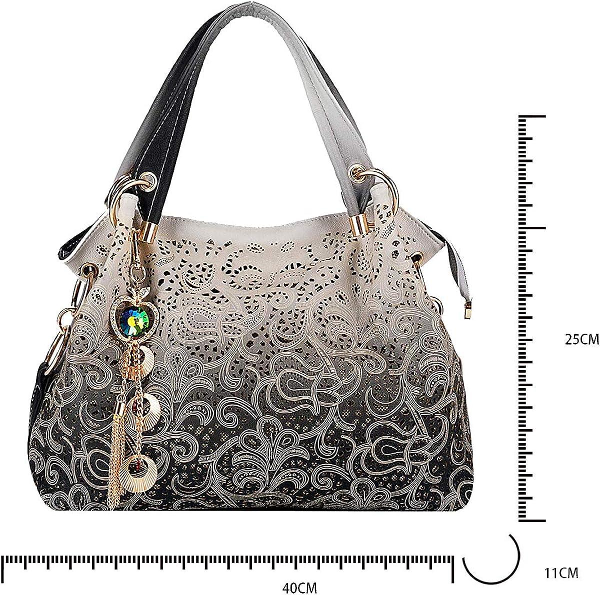 Tisdaini Womens Handbags Fashion High capacity Shoulder Bags Cross-Body Top-Handle Totes UK906 Black