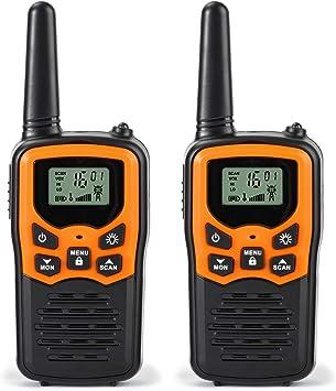 Greaval PMR 446 Walkie Talkie Free RV-7 Naranja Negro 2 Pack: Amazon.es: Electrónica