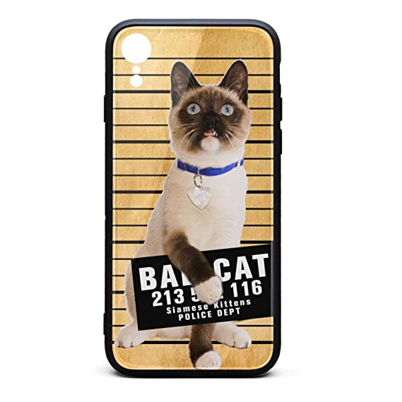best loved 6b18a aa898 Amazon.com: Best Phone Case for iPhone XR Siamese cat Mug Rubber ...