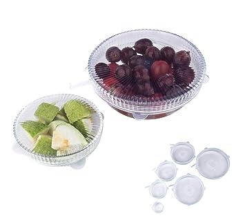 newlemo 6 paquetes Bowl silicona tapas reutilizables tapas Alimentos para le Copas, latas, contenedores, tazas, macetas de, Albañil y jugar (Limpieza)