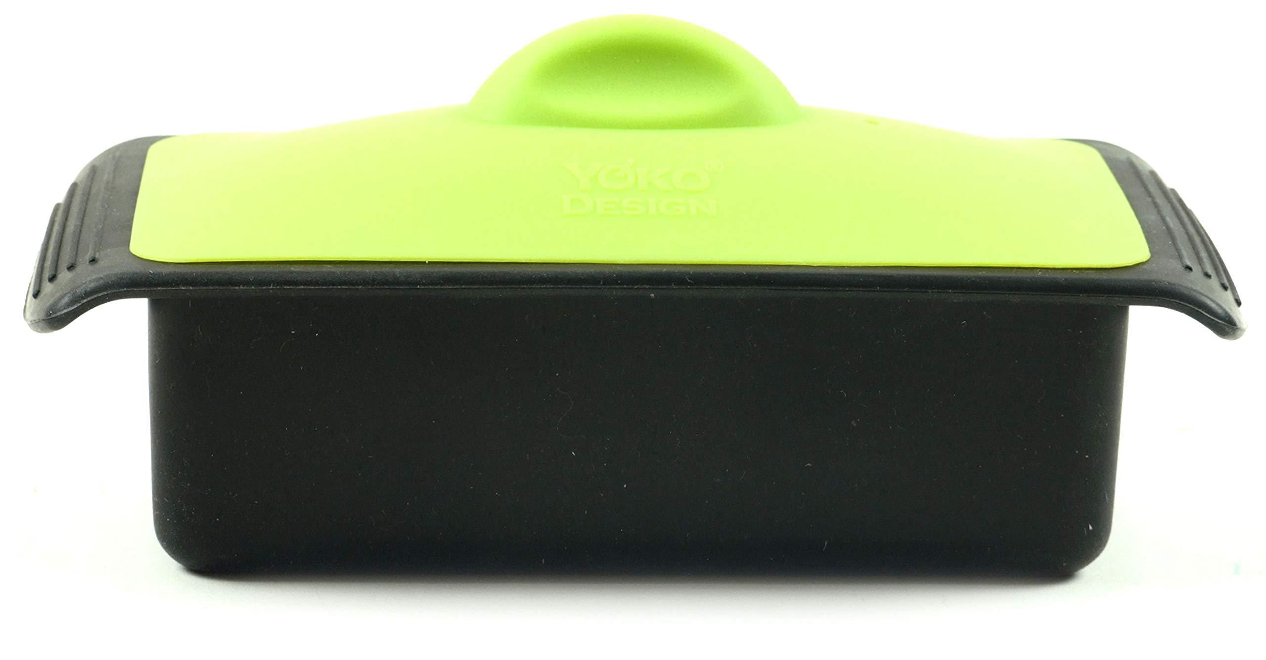 YOKO Design 1101 Terrine + Press, Silicone, Green, 19 x 10 x 6 cm by YOKO Design