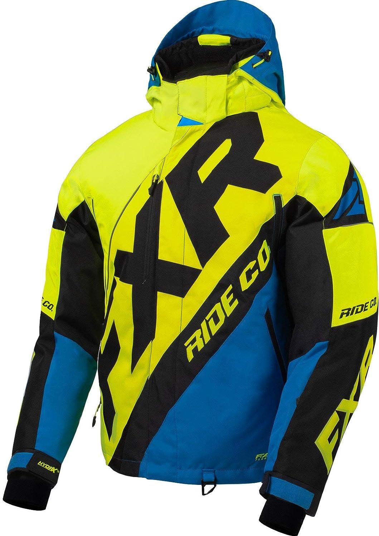 FXR Mens CX Jacket -Large Black//Char//Hi-vis