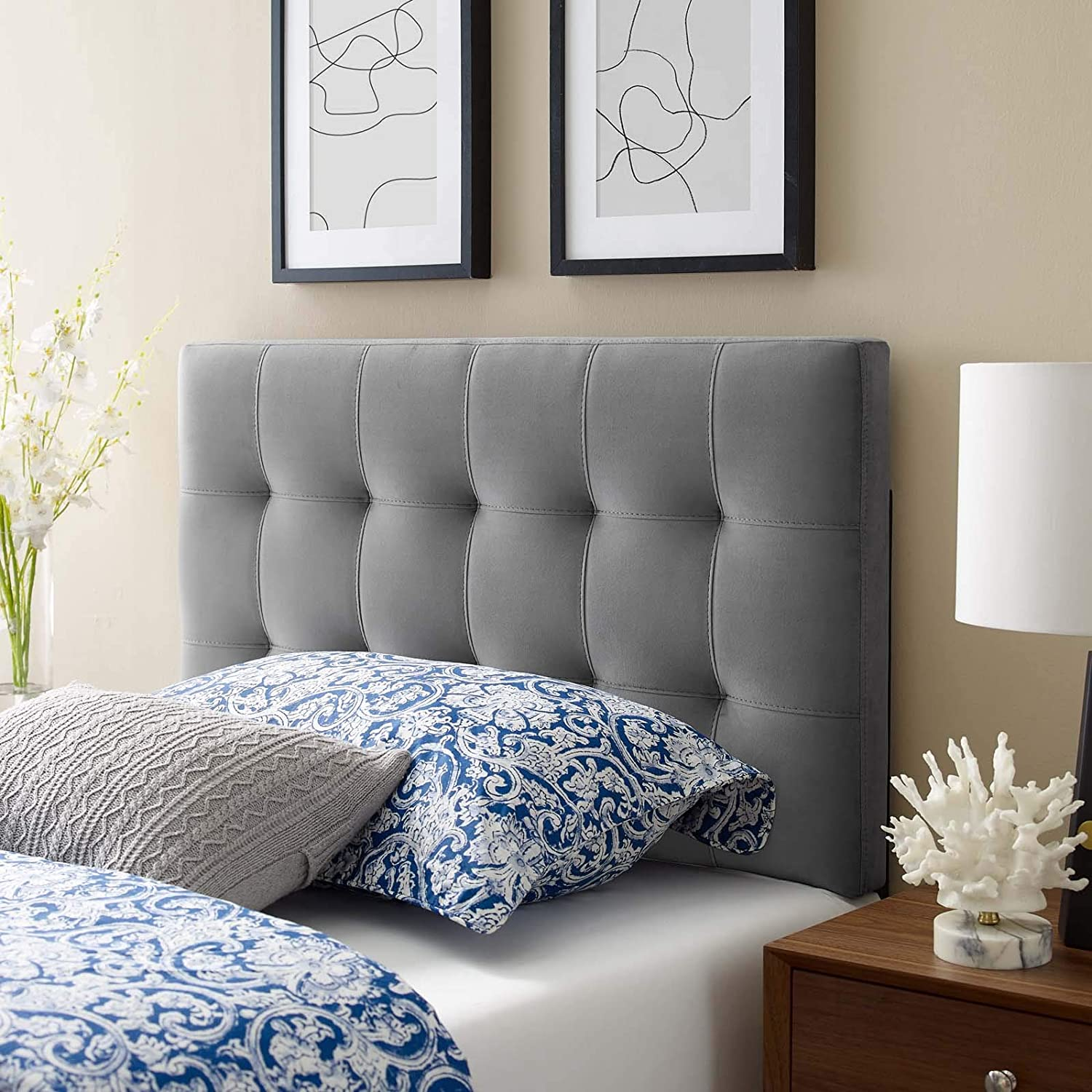 home decor ideas - tufted headboard for a sophisticated design