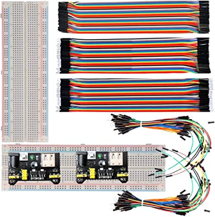 2pcs Male to Male 65pcs Solderless Breadboard Jumper Cable Wires For Arduino uno