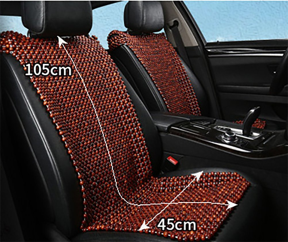 DIELIAN Rosewood Car Van Seat Cover Natural Wood Comfort Massage Cool Car Seat Cushion,Beige by DIELIAN (Image #4)