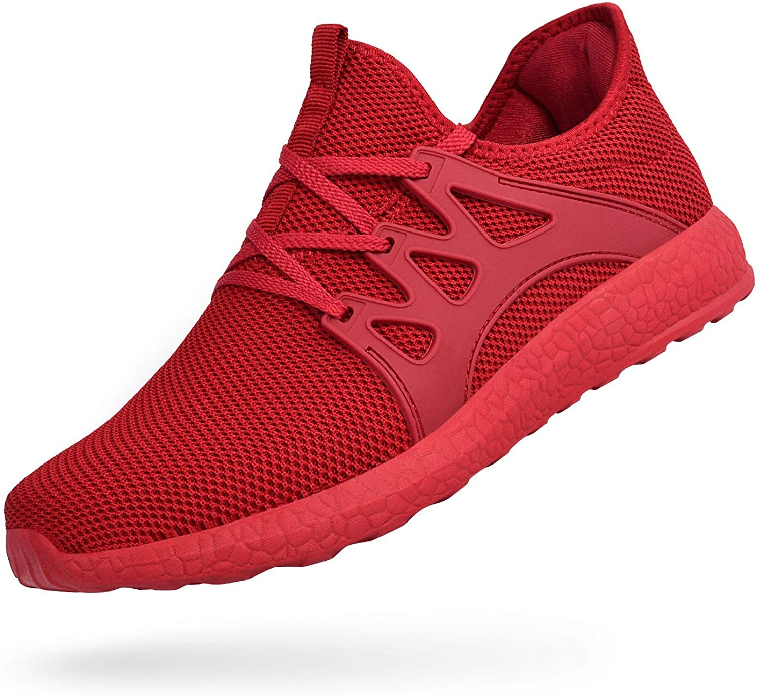 MARSVOVO Men s Air Knitted Running Shoes