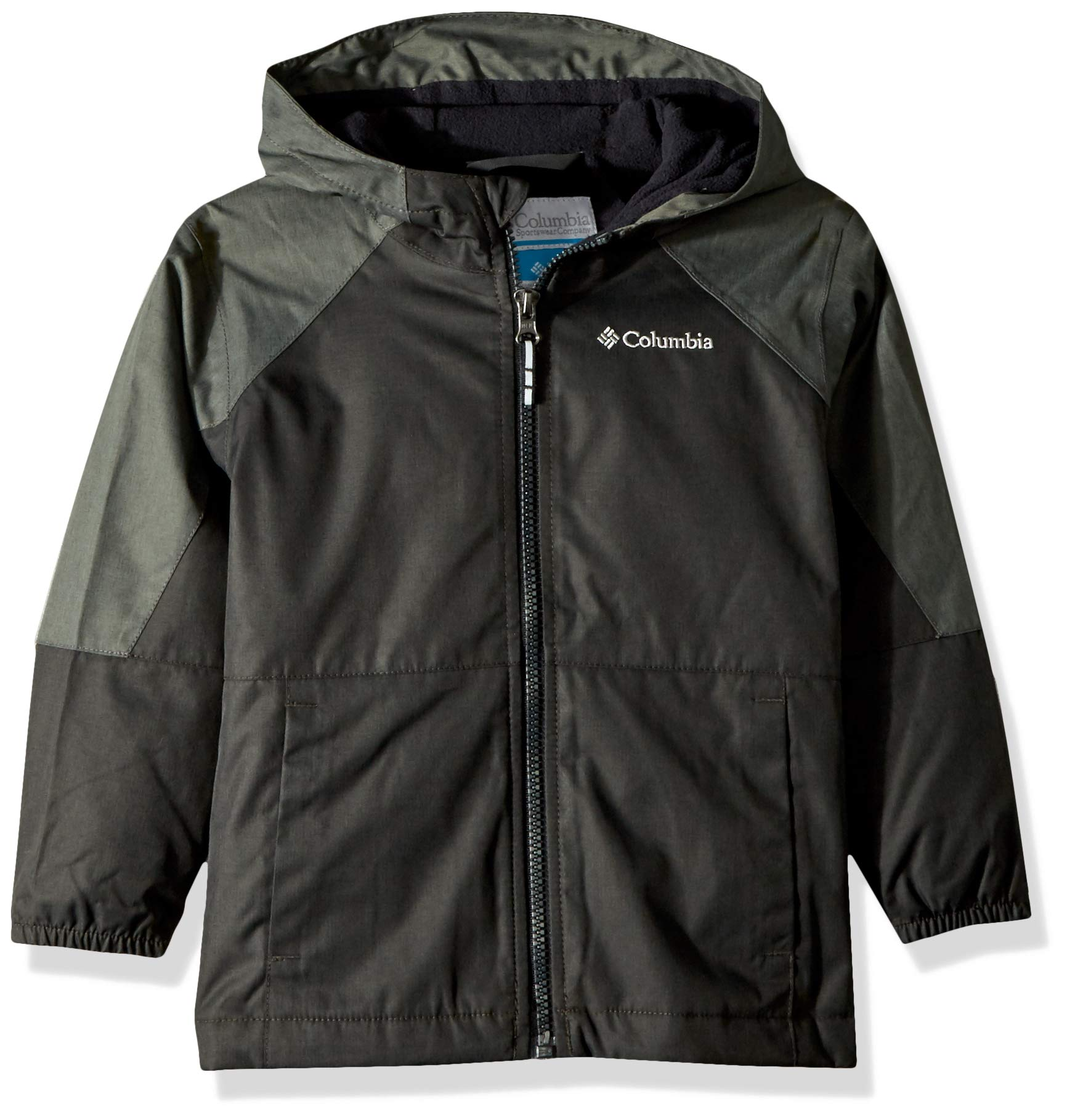 Columbia Boys' Toddler Endless Explorer Jacket, Black Heather/Grill Heather, 3T by Columbia