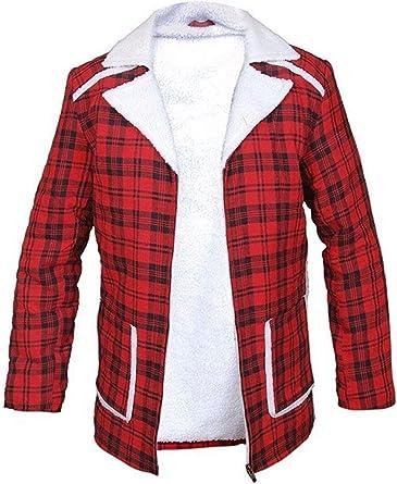 Deadpool Wade Wilson Ryan Reynolds Red Shearling Men Fashion Coat Jacket