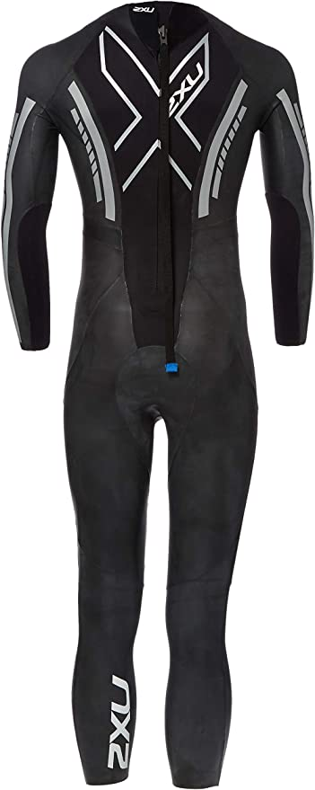 2XU Combinaison Pro Swim-Run SR1 Homme Noir /Étirement Facile Imprim/é Surf Bleu