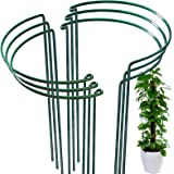 6 Pack Plant Support Plant Stakes, LEOBRO Metal Plant Supports for The Garden, Plant Cage, Plant Support Ring, Plant Support