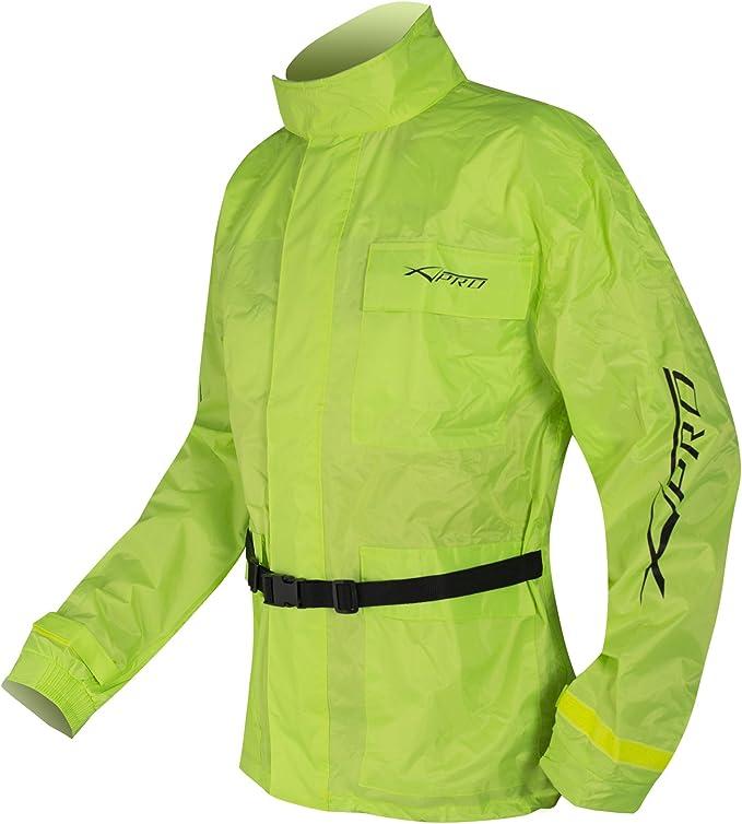 Wasserdichte Regen Jacke Und Hose Anzug Kombi Hoehe Sichtbarkeit Fluo L Auto