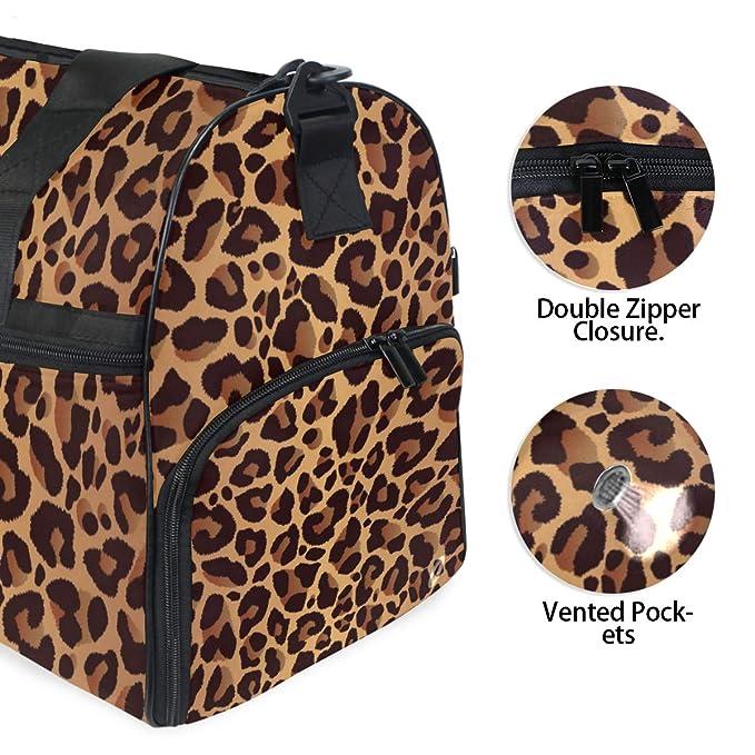 Amazon.com: KUWT Bolsa de viaje con estampado de leopardo ...