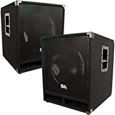 Seismic Audio Baby Tremor Empty Pair Of 15 Subwoofer Cabinets
