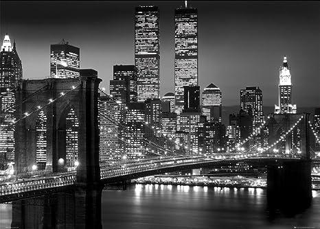 GB Eye, New York, Brooklyn Bridge Night, Poster Gigante