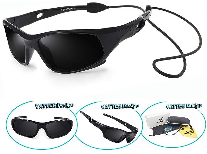 02b6abbe206a VATTER TR90 Unbreakable Polarized Sport Sunglasses For Kids Boys Girls  Youth 816blackblack
