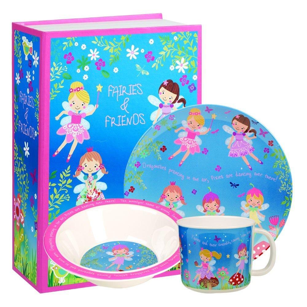 Fairies and Friends 3 piece Melamine Childrens Set