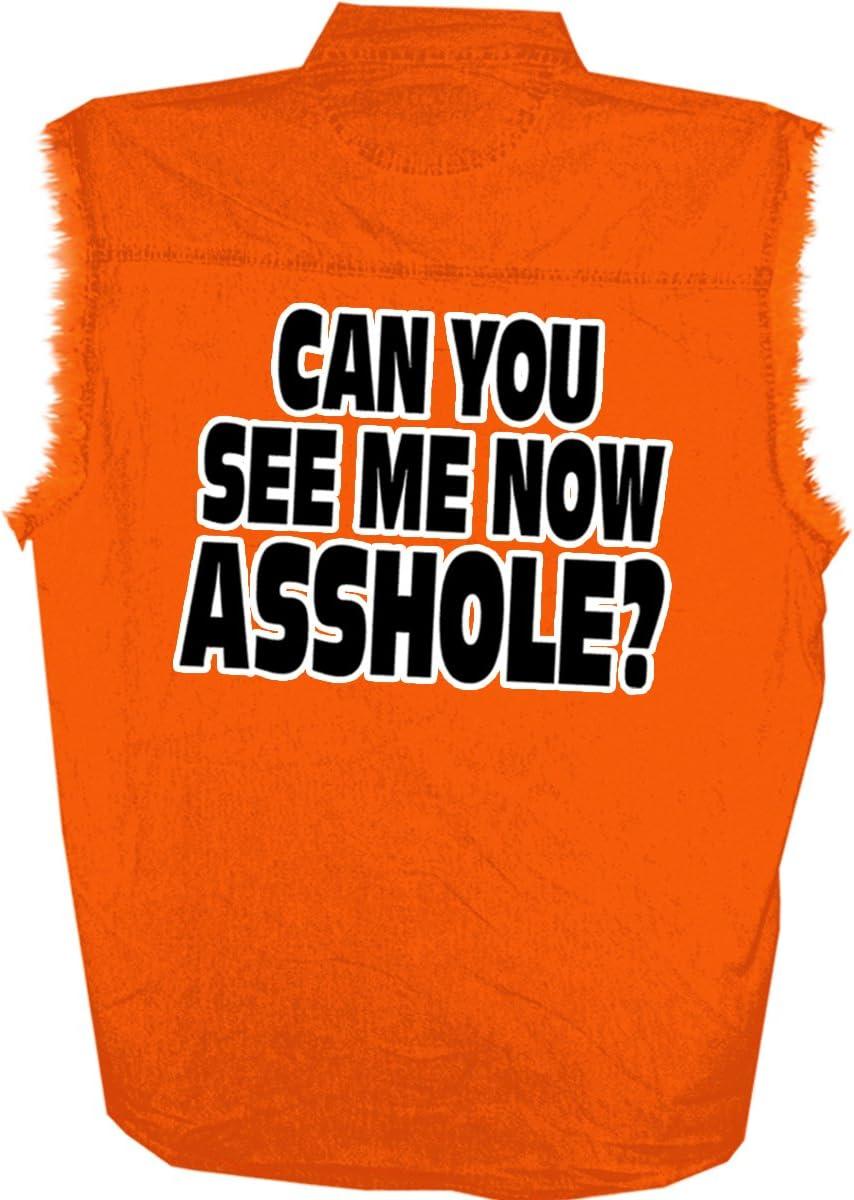 Hot Leathers Bikers Against Dumb Drivers Sleeveless Denium Shirt Safety Orange, XX-Large