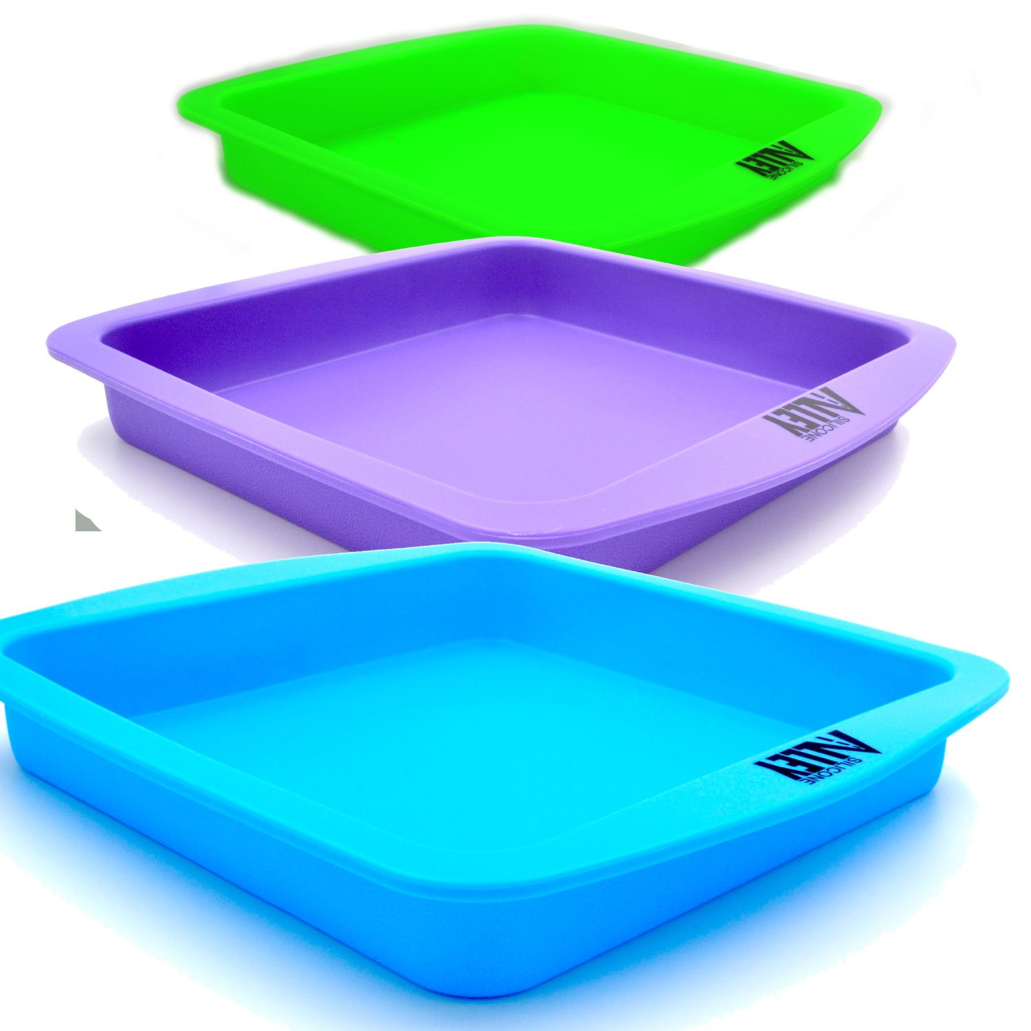 Wax Deep Dish Container Tray - Bulk Set of 3 - Assorted Colors SILICONE ALLEY