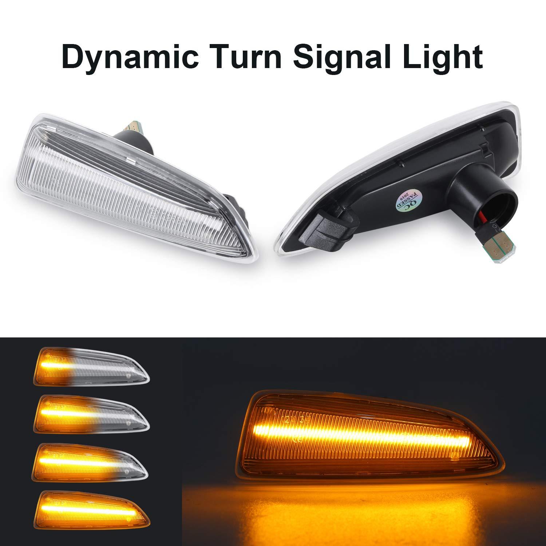 Dynamic Turn Signal Light Gempro Side Marker Flowing Side Indicators Clear For O-pel V-auxhall Astra J Astra J K Zafira C Insignia B Grandland X
